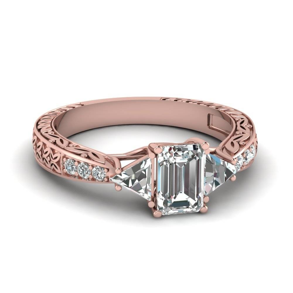 Romantic Vintage Rose Gold Engagement Rings At Affordable Price Throughout 2018 Affordable Anniversary Rings (View 18 of 25)