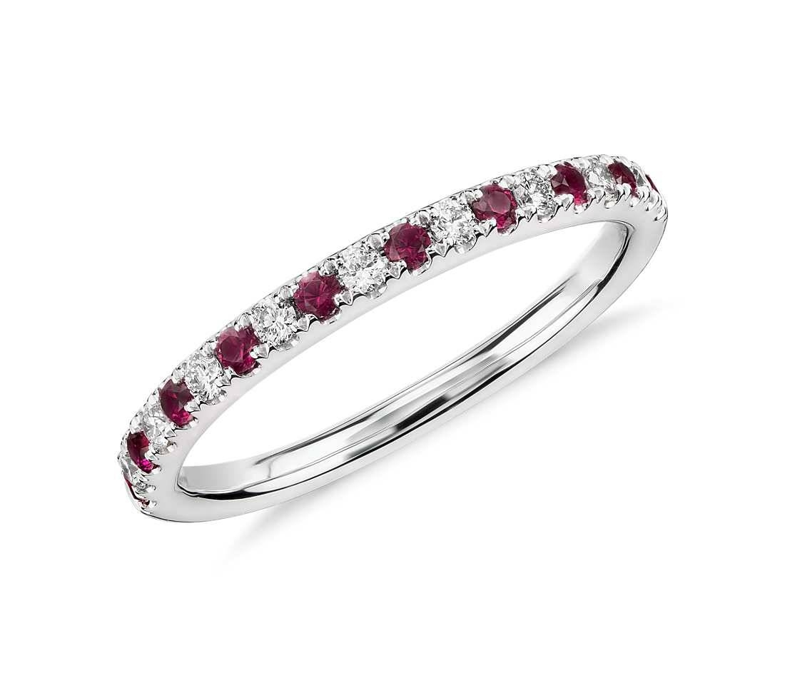 Ruby And Diamond Ring In 18K White Gold – Tanary Jewelry In Most Up To Date Ruby And Diamond Anniversary Rings (View 19 of 25)