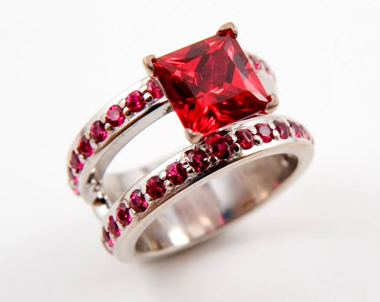 Ruby Wedding Rings | Rikof In 2017 Ruby Anniversary Rings (Gallery 18 of 25)