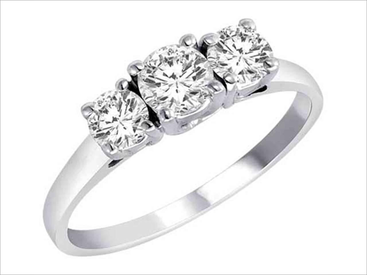 Ryan Jonathan Lucido 3 Three Stone Brilliant Diamond Anniversary Intended For Latest 5 Diamond Anniversary Rings (View 16 of 25)