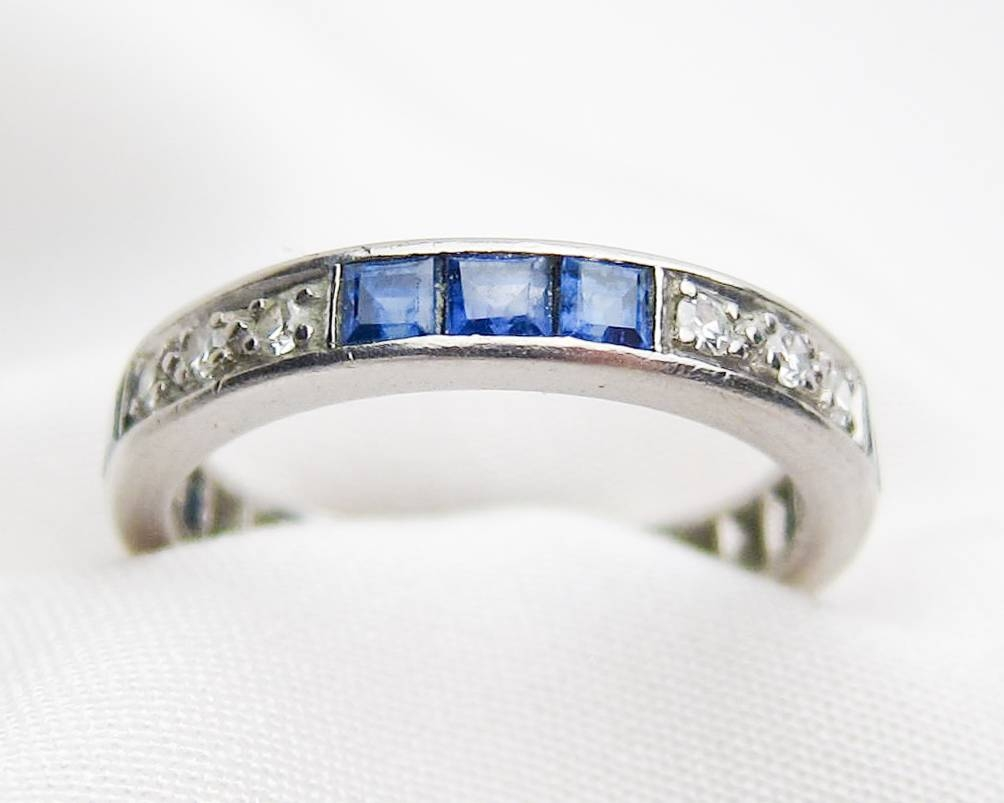 Sapphire & Diamond Eternity Band | White Gold Sapphire Eternity Band Pertaining To Most Popular Diamond And Sapphire Anniversary Rings (View 22 of 25)