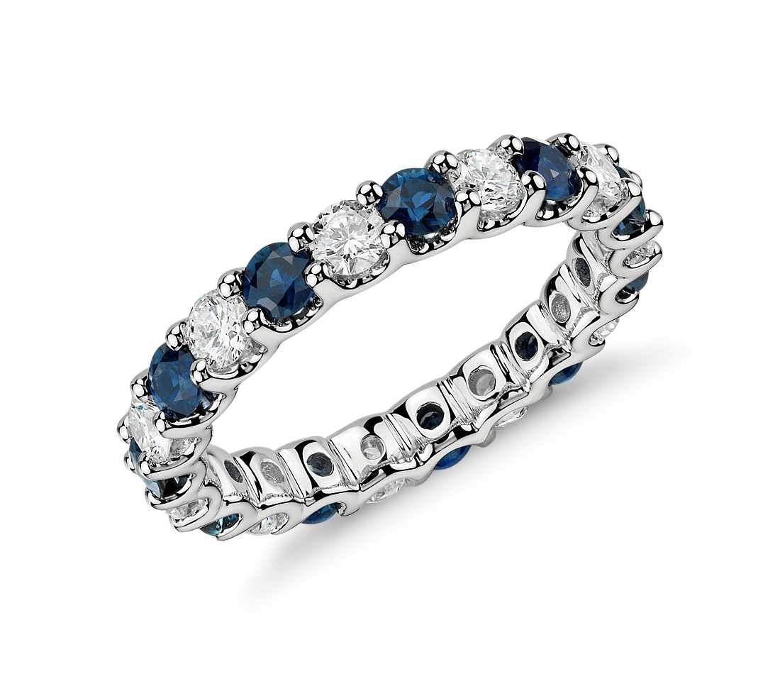 Sapphire Eternity Diamond Rings | Wedding, Promise, Diamond With Recent Sapphire Anniversary Rings (View 21 of 25)