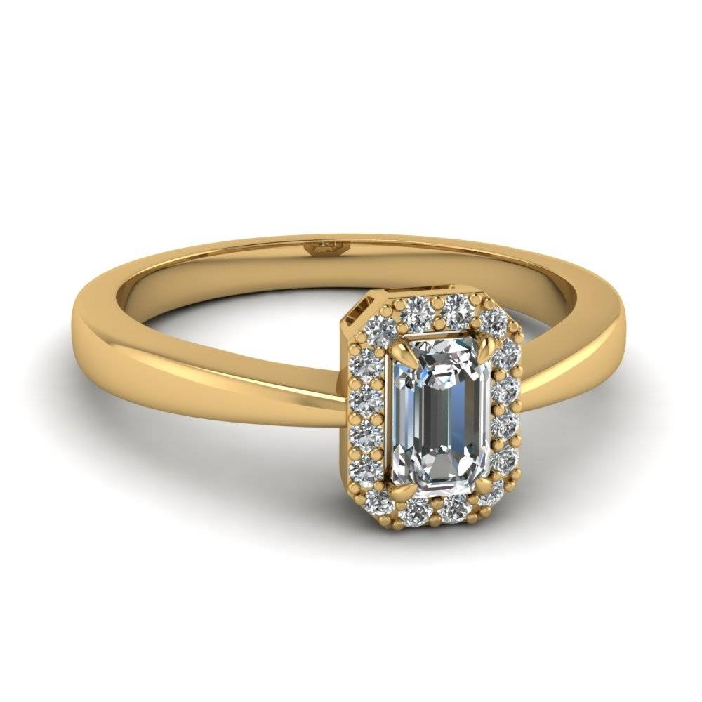 Save Big On Emerald Cut Halo Engagement Rings | Fascinating Diamonds Regarding Most Up To Date Emerald Cut Diamond Anniversary Rings (View 25 of 25)