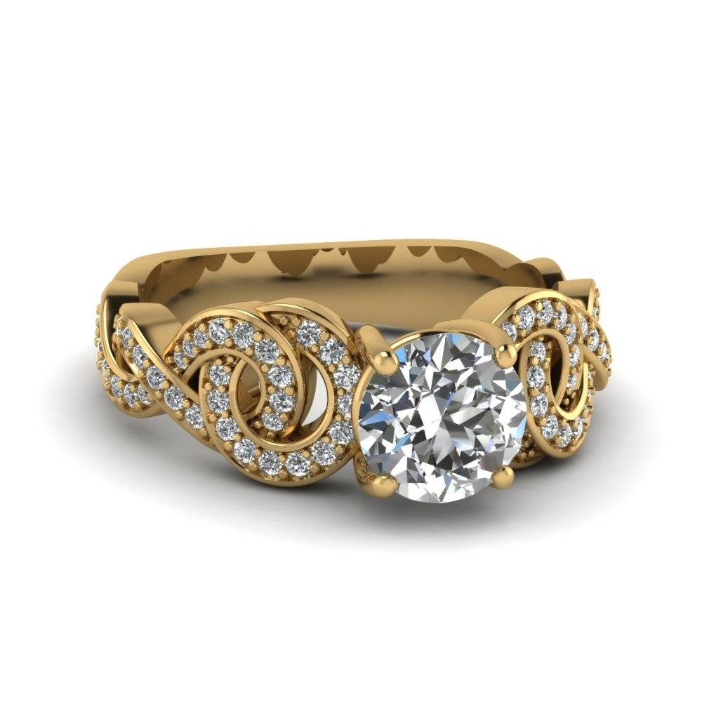 Shop For Vintage Yellow Gold Wedding Bands And Rings| Fascinating With Recent Yellow Diamond Anniversary Rings (Gallery 3 of 25)