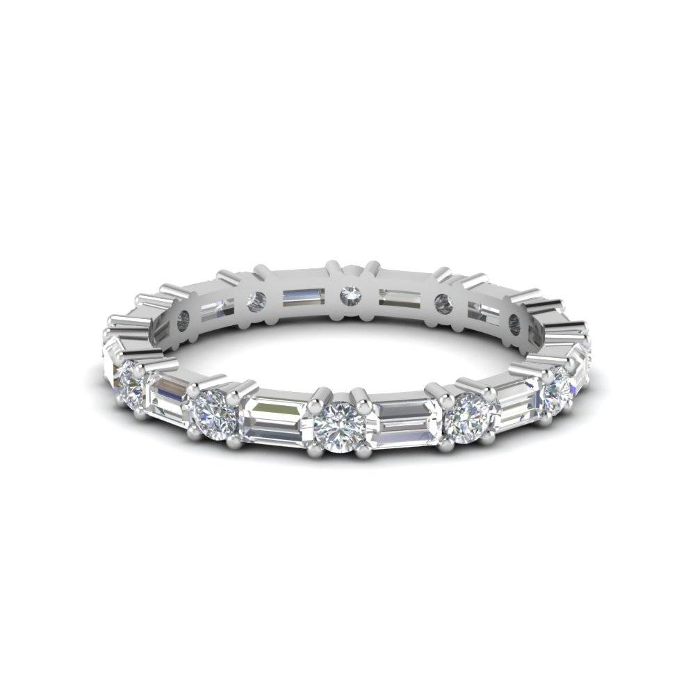Shop Wedding Rings | Fascinating Diamonds In 2018 Baguette Anniversary Rings (View 23 of 25)