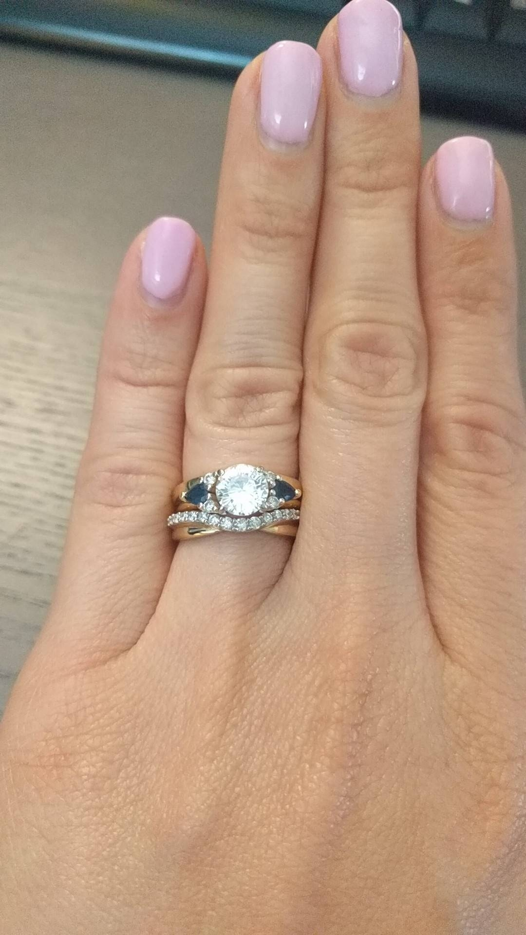 Show Me Your Curved Wedding Bands Please :) Or Suggestions In Best And Newest 5 Year Anniversary Rings (View 7 of 25)