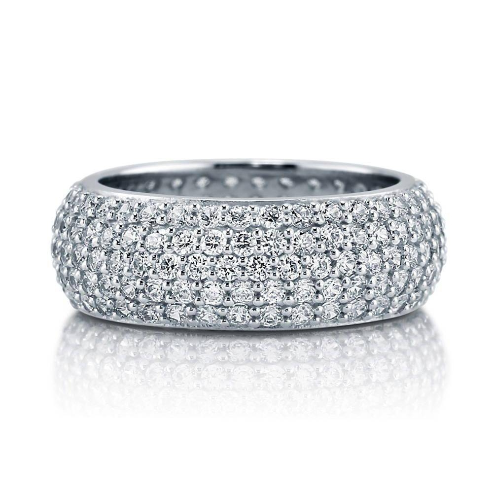 Sterling Silver Cubic Zirconia Cz Stackable Eternity Ring #r109 With Regard To Best And Newest Cz Anniversary Rings (Gallery 24 of 25)