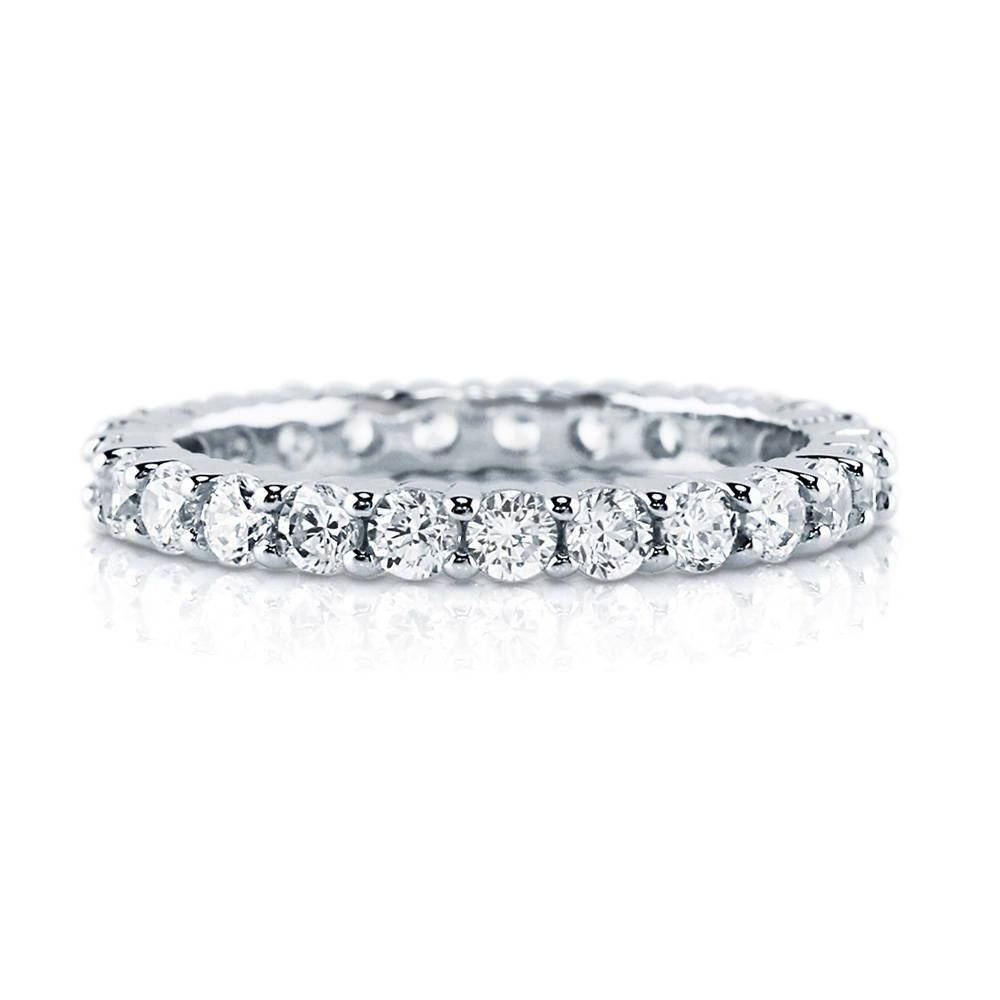 Sterling Silver Cubic Zirconia Cz Stackable Eternity Ring #r448 Inside Best And Newest Cubic Zirconia Anniversary Rings (View 22 of 25)