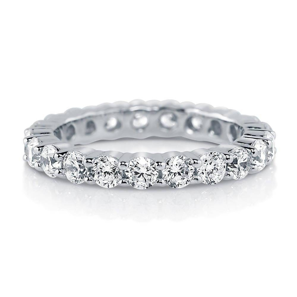 Sterling Silver Cubic Zirconia Cz Stackable Eternity Ring #r448 Within Recent Cz Anniversary Rings (View 22 of 25)