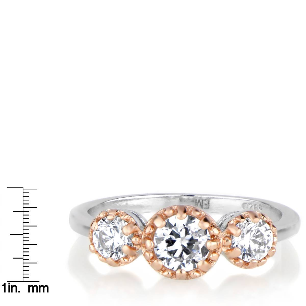 Three Stone Anniversary Ring – Two Tone Pertaining To Most Popular Two Tone Anniversary Rings (View 21 of 25)