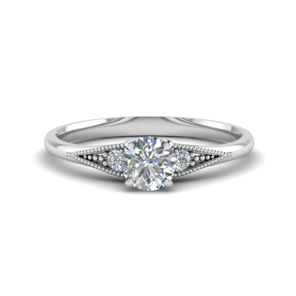 Three Stone Diamond Anniversary Ring | Fascinating Diamonds For Best And Newest Anniversary Rings Settings Without Stones (View 14 of 25)