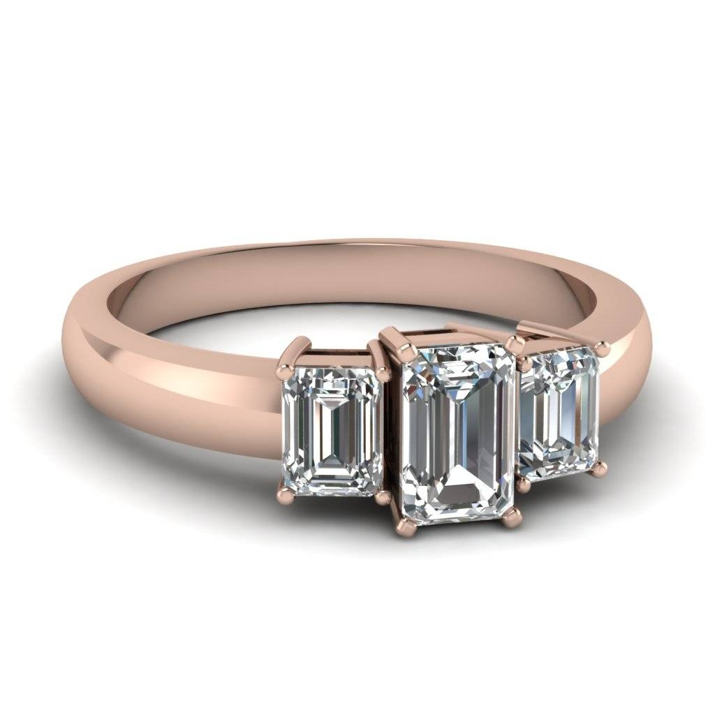 Three Stone Engagement Rings | Fascinating Diamonds Inside Current Anniversary Rings Settings Without Stones (Gallery 15 of 25)