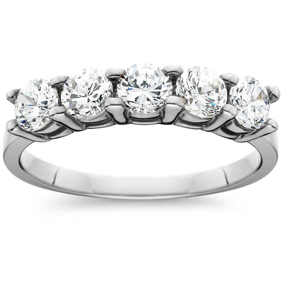 Uncategorized : 14K Gold Anniversary Rings 5 Stone Anniversary For 2018 5 Stone Diamond Anniversary Rings (View 17 of 25)