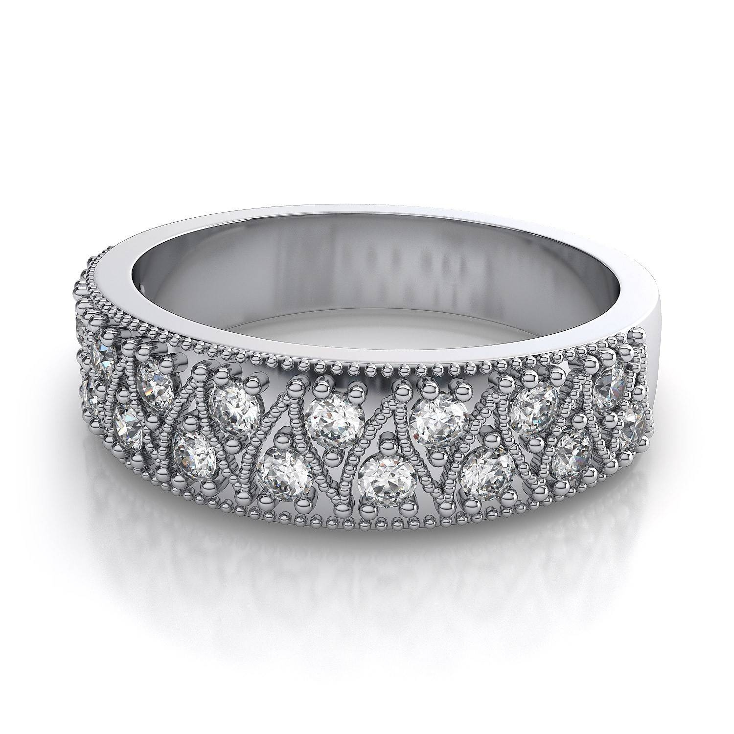 Uncategorized : Engaging Ring Wedding Bands To Match Solitaire Intended For Best And Newest Platinum Diamond Anniversary Rings (View 22 of 25)