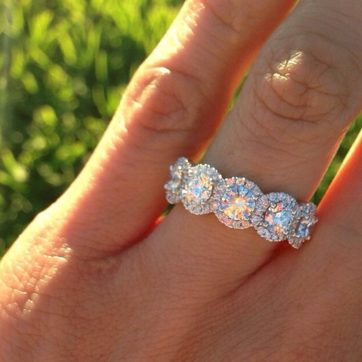 Uncategorized : Yellow Gold Pave Ring Pave Diamond Wedding Ring Intended For Most Current Halo Anniversary Rings (Gallery 5 of 25)