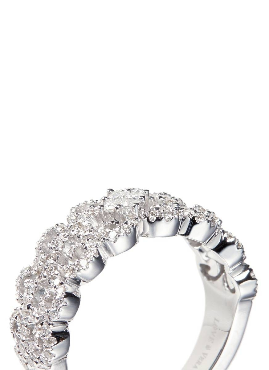 Vera Wang Love Diamond Anniversary Band In Metallic | Lyst For Newest Vera Wang Anniversary Rings (View 21 of 25)