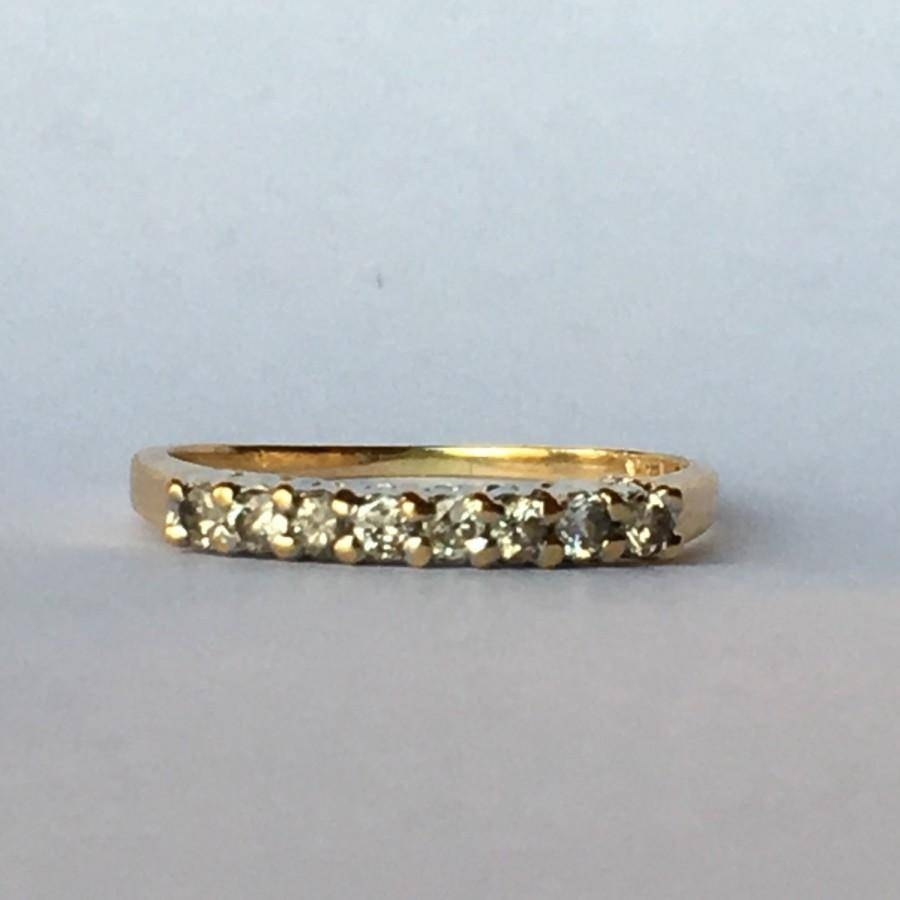 Vintage Diamond Wedding Band. 14K Yellow Gold (View 14 of 15)