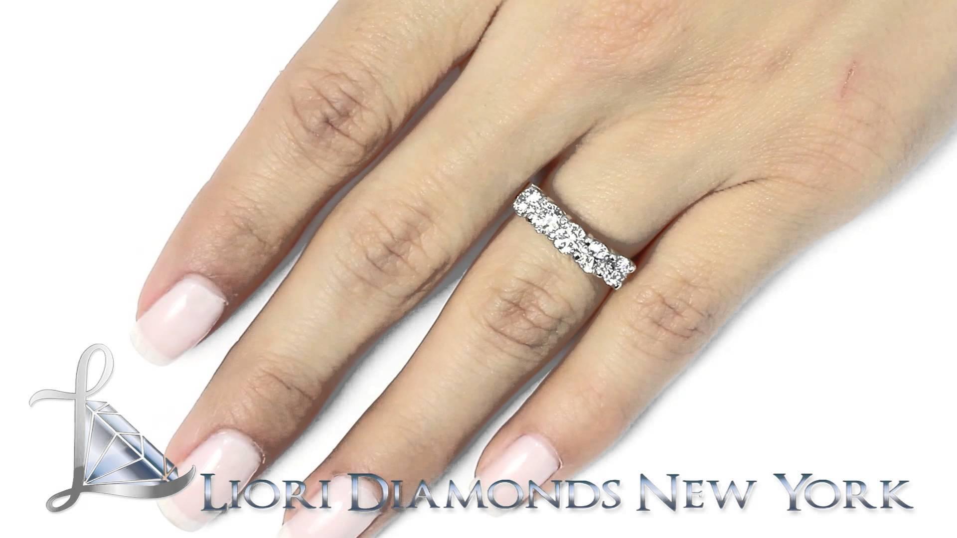 Wba 37 – 2.00 Carat E Vs1 5 Stone Diamond Wedding Band Anniversary In Current 3 Carat Diamond Anniversary Rings (Gallery 24 of 25)