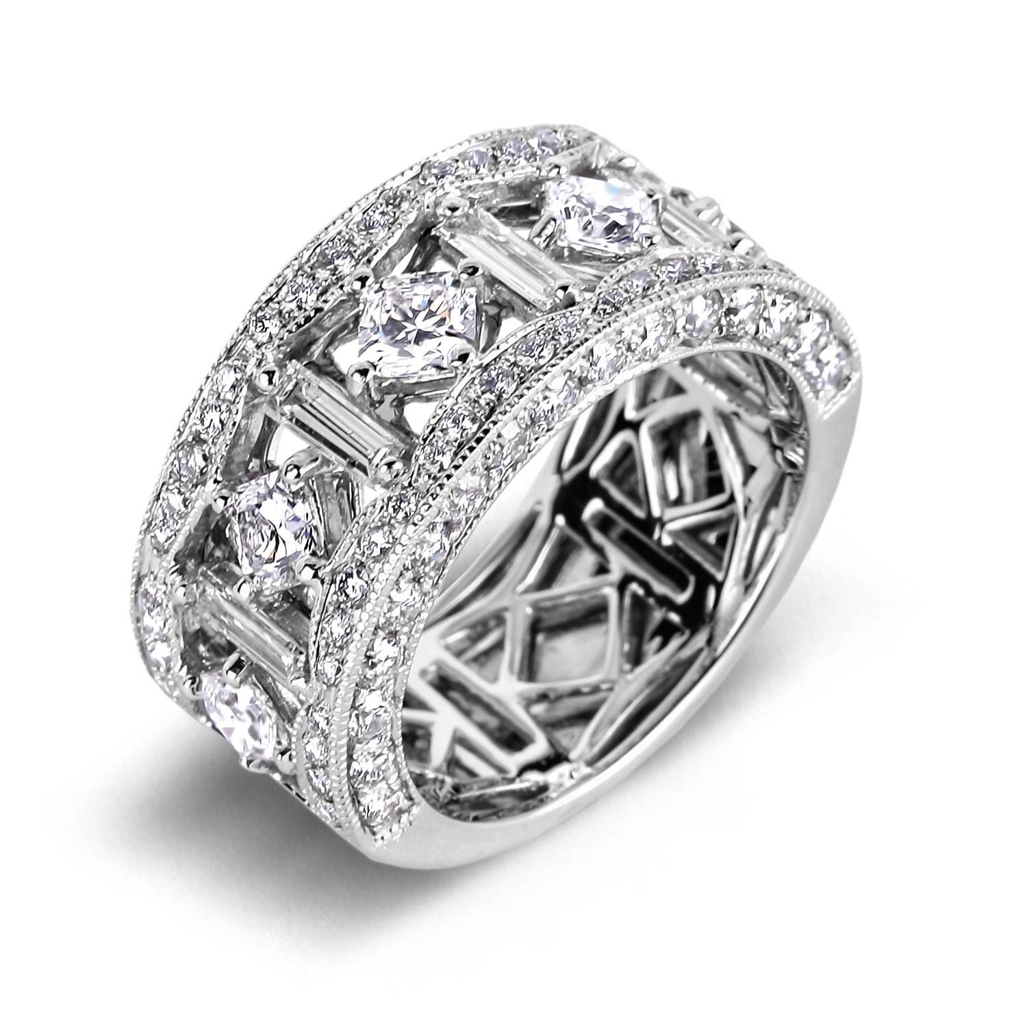 Wedding Anniversary Rings Diamonds | Wedding Ideas Throughout 2018 Wide Band Anniversary Rings (View 20 of 25)