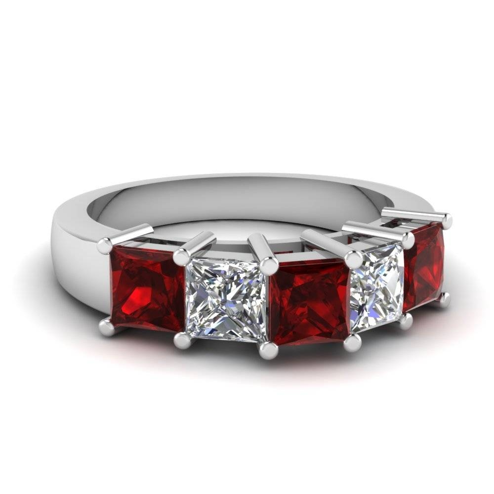 Featured Photo of Ruby And Diamond Anniversary Rings