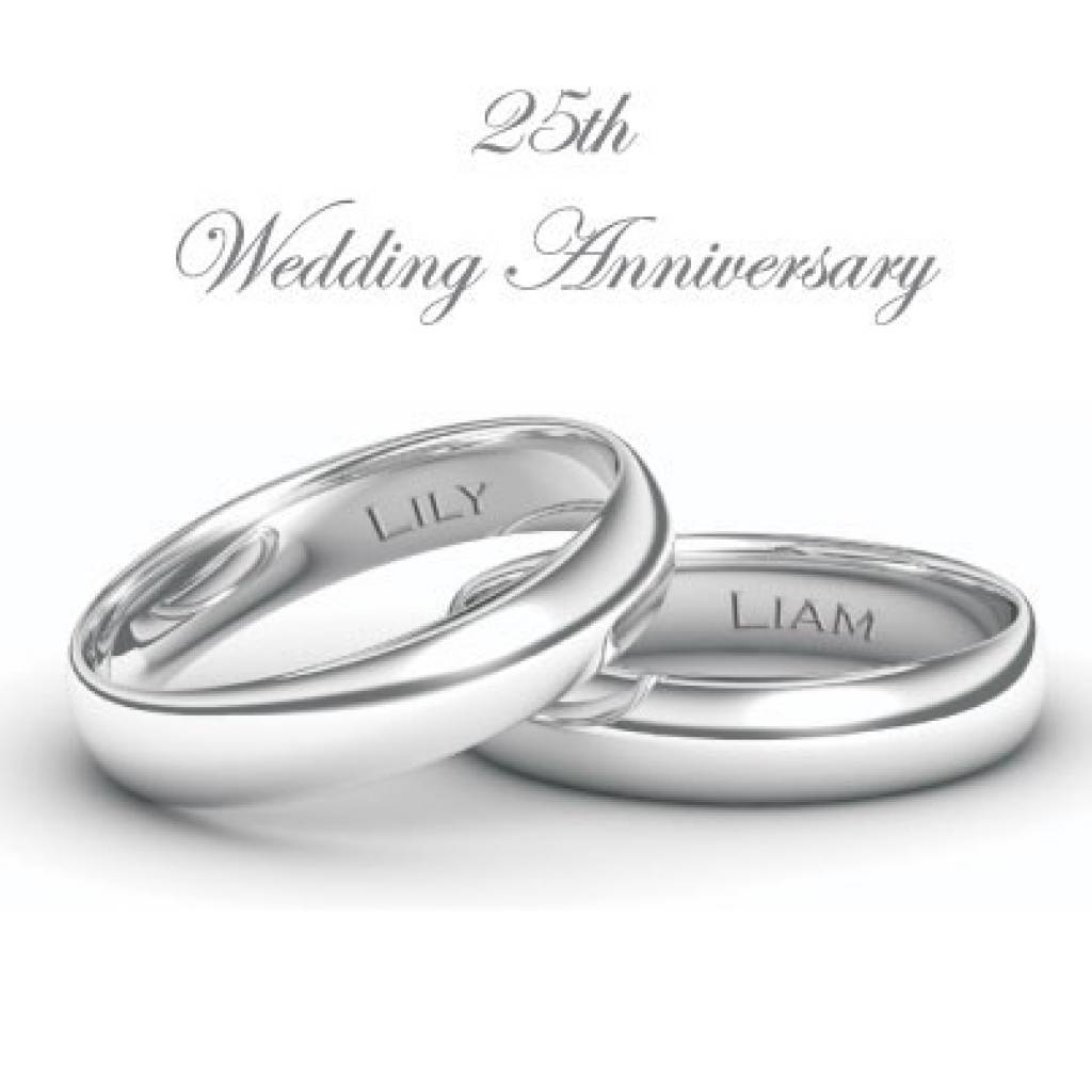 Wedding Ring : 25th Anniversary Rings For Men Women 25 Year Intended For 2017 25 Year Wedding Anniversary Rings (View 9 of 25)