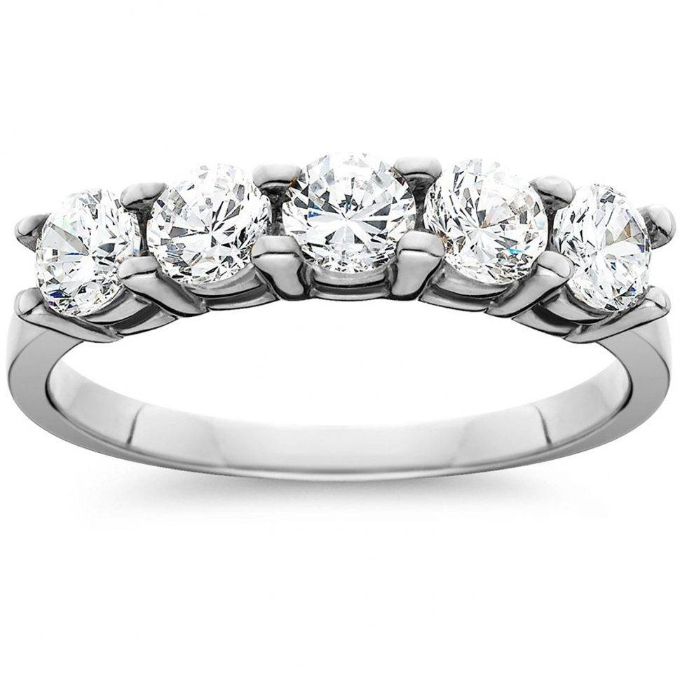 Wedding Rings : 2 Carat 3 Stone Diamond Ring Mens Diamond Wedding In Current 5 Stone Anniversary Rings (Gallery 5 of 25)