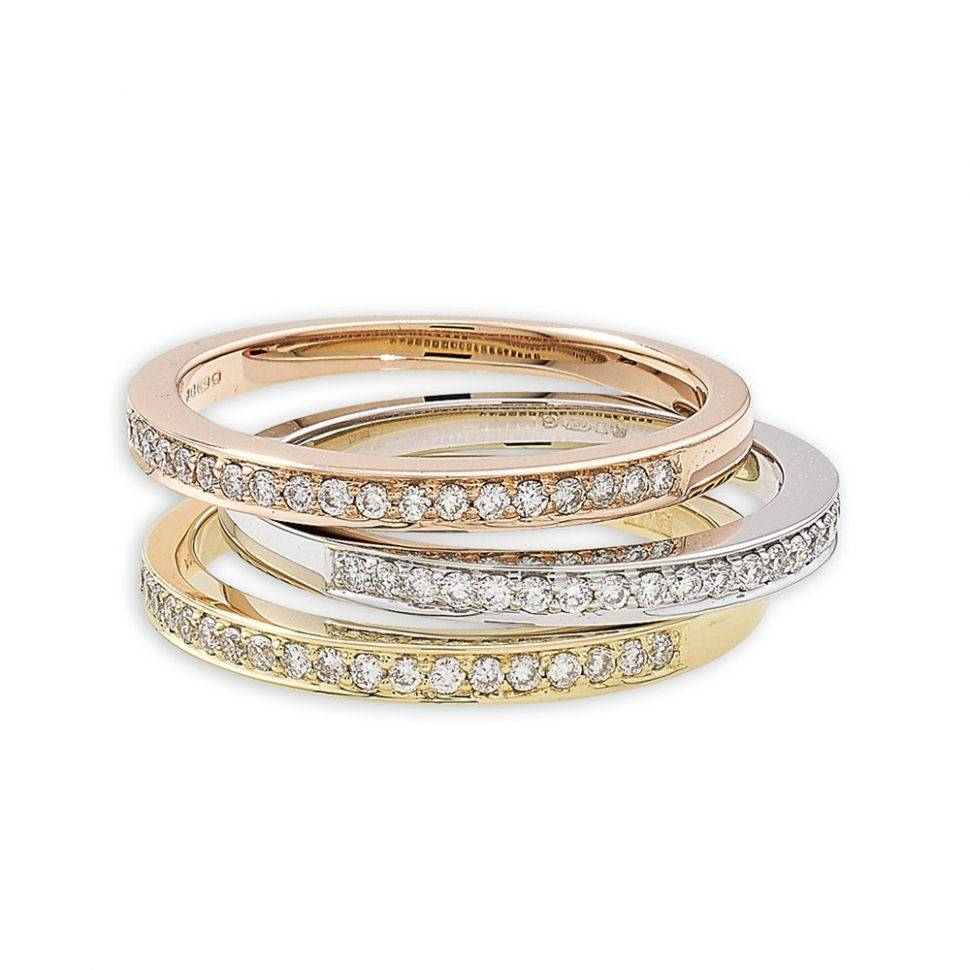Wedding Rings : 3 Stone Diamond Anniversary Rings How To Stack For Most Current 50Th Anniversary Rings (View 19 of 25)