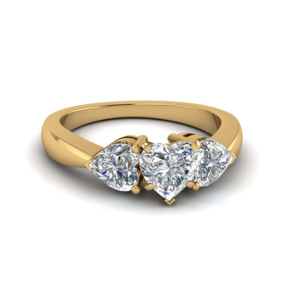 Wedding Rings : 3 Stone Diamond Ring Yellow Gold Three Stone Intended For Newest Three Diamond Anniversary Rings (View 23 of 25)
