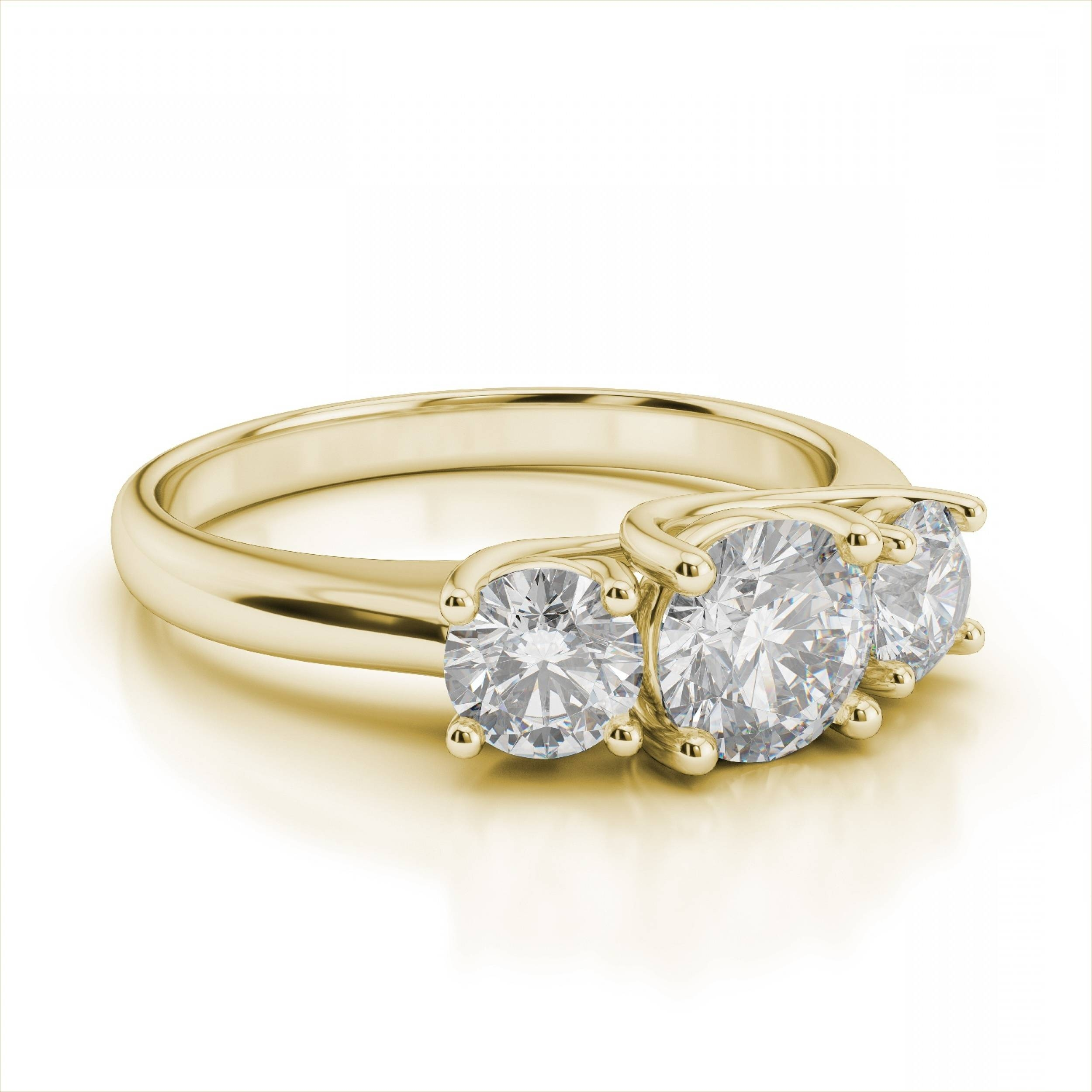 Wedding Rings : Anniversary Rings On Sale Three Stone Diamond For Most Recently Released Three Diamond Anniversary Rings (Gallery 21 of 25)