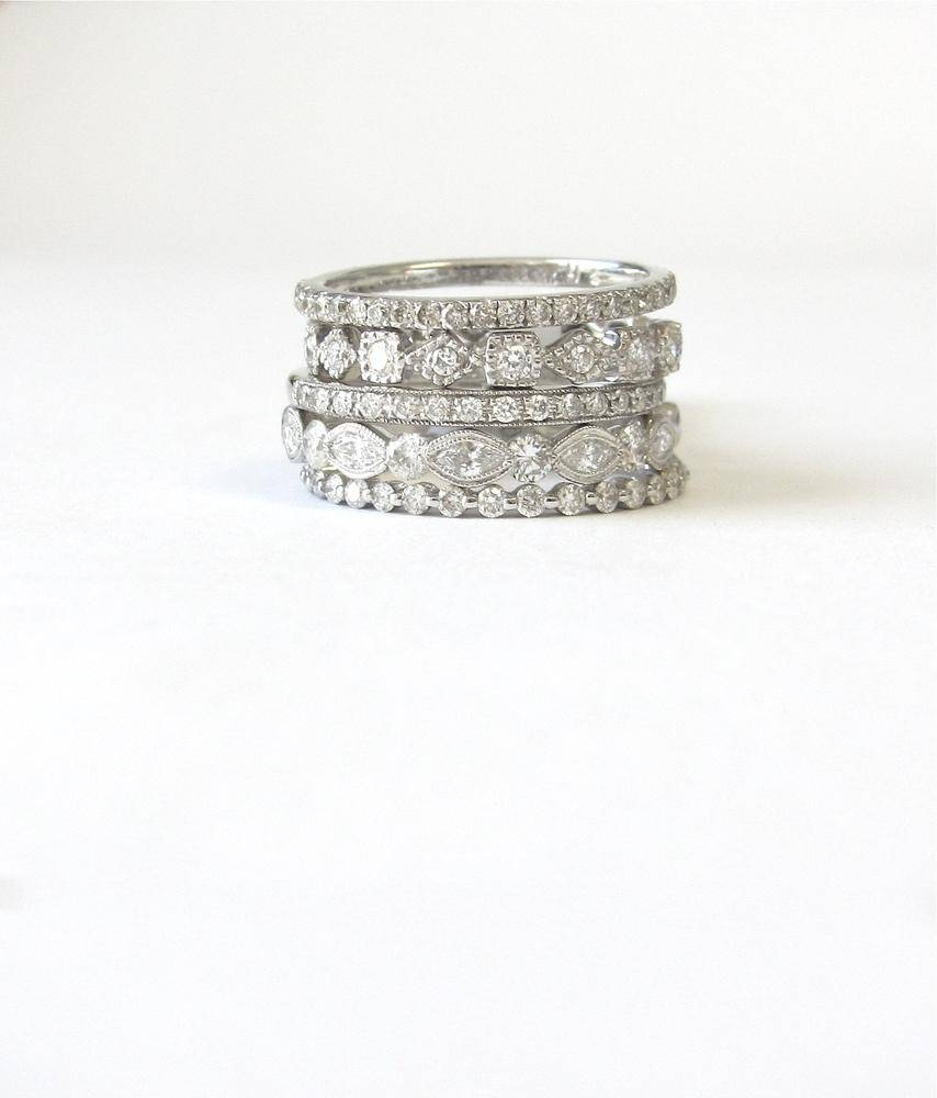 Wedding Rings : Anniversary Ringsyear Stackable Diamond In Best And Newest Five Year Anniversary Rings (View 24 of 25)