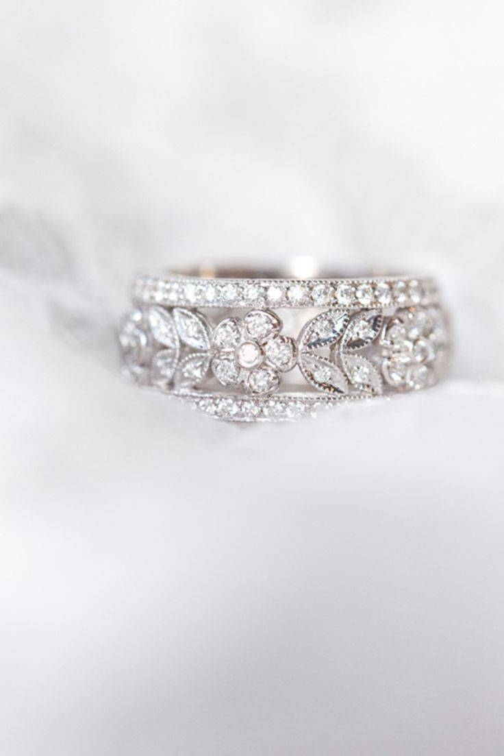 Wedding Rings : Antique Eternity Wedding Bands Vintage Anniversary Within 2018 5 Stone Anniversary Rings (Gallery 14 of 25)
