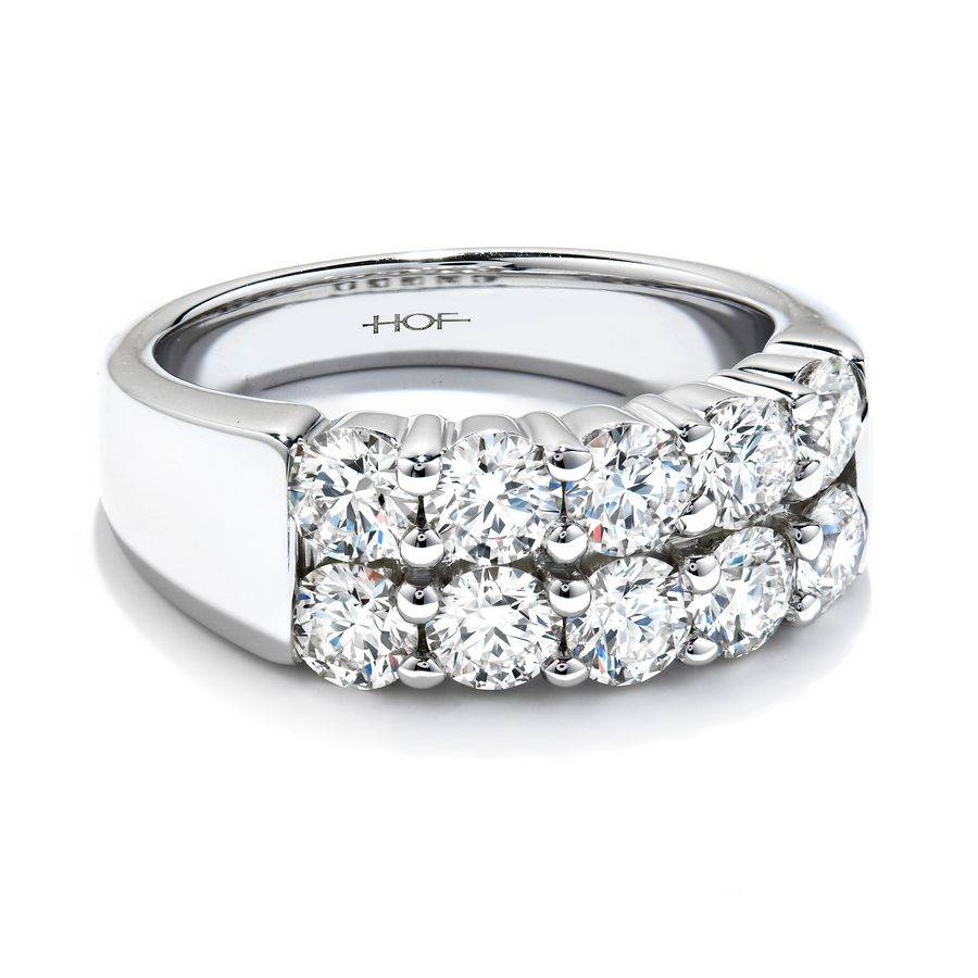Wedding Rings : Art Deco Anniversary Band 2 Carat 3 Stone Diamond With Regard To Newest 25th Anniversary Rings For Her (View 13 of 25)
