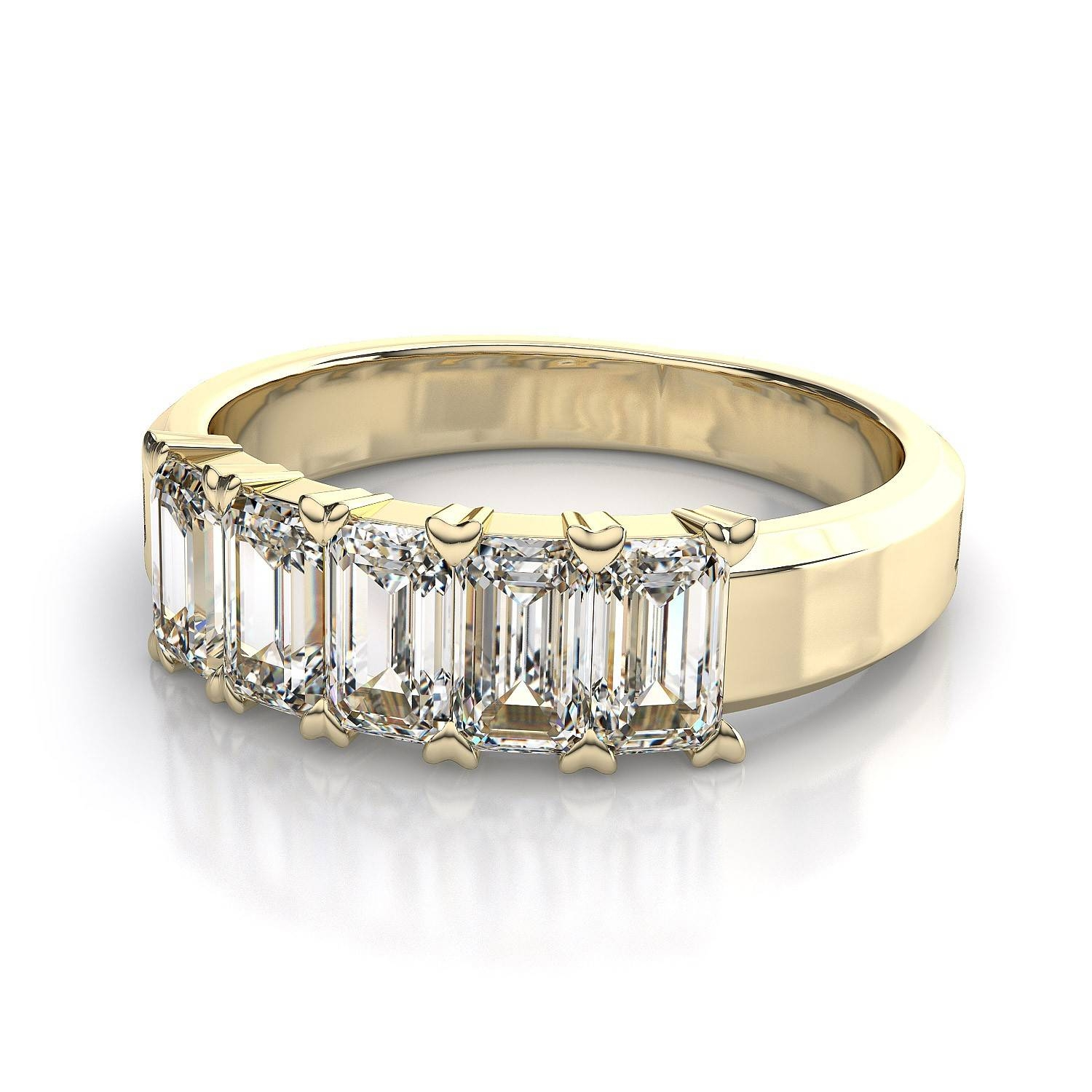 Wedding Rings : Art Deco Anniversary Band 3 Carat Solitaire For Current Anniversary Rings With Baguettes (Gallery 18 of 25)