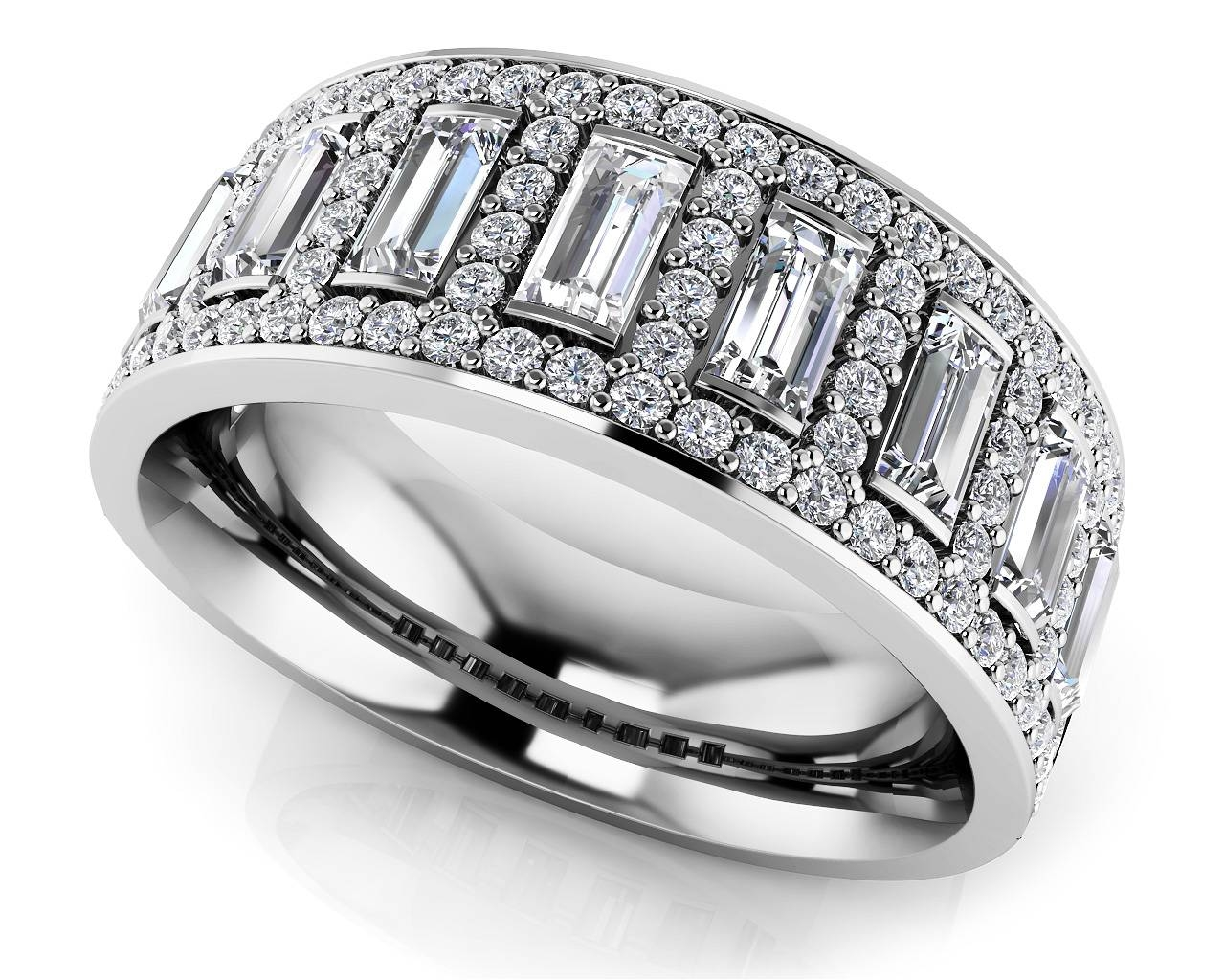 Wedding Rings : Art Deco Anniversary Band Stackable Diamond Inside Latest Ladies Anniversary Rings (View 15 of 25)