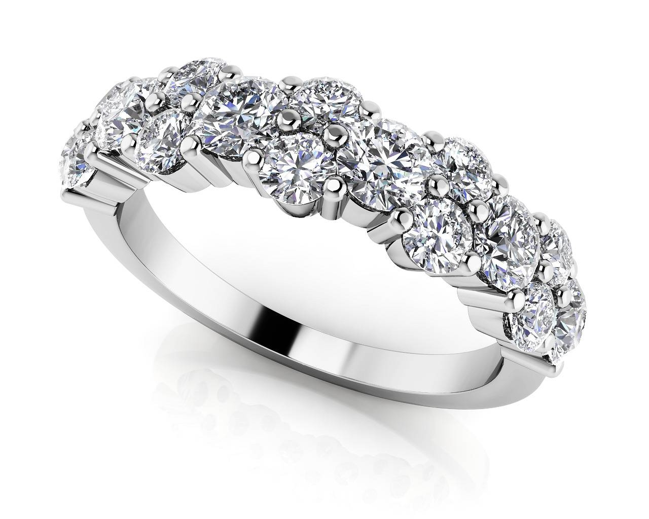 Wedding Rings : Art Deco Anniversary Band Stackable Diamond Intended For Most Up To Date 10 Year Anniversary Rings Ideas (View 14 of 15)