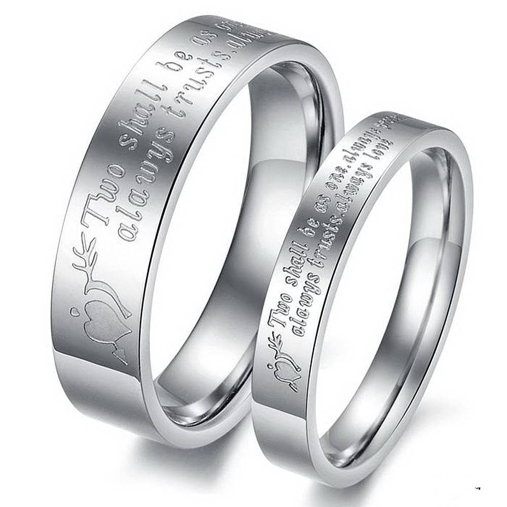 Wedding Rings : Engraved Wedding Band Platinum Engravable Wedding With Latest Engraving Anniversary Rings (Gallery 16 of 25)