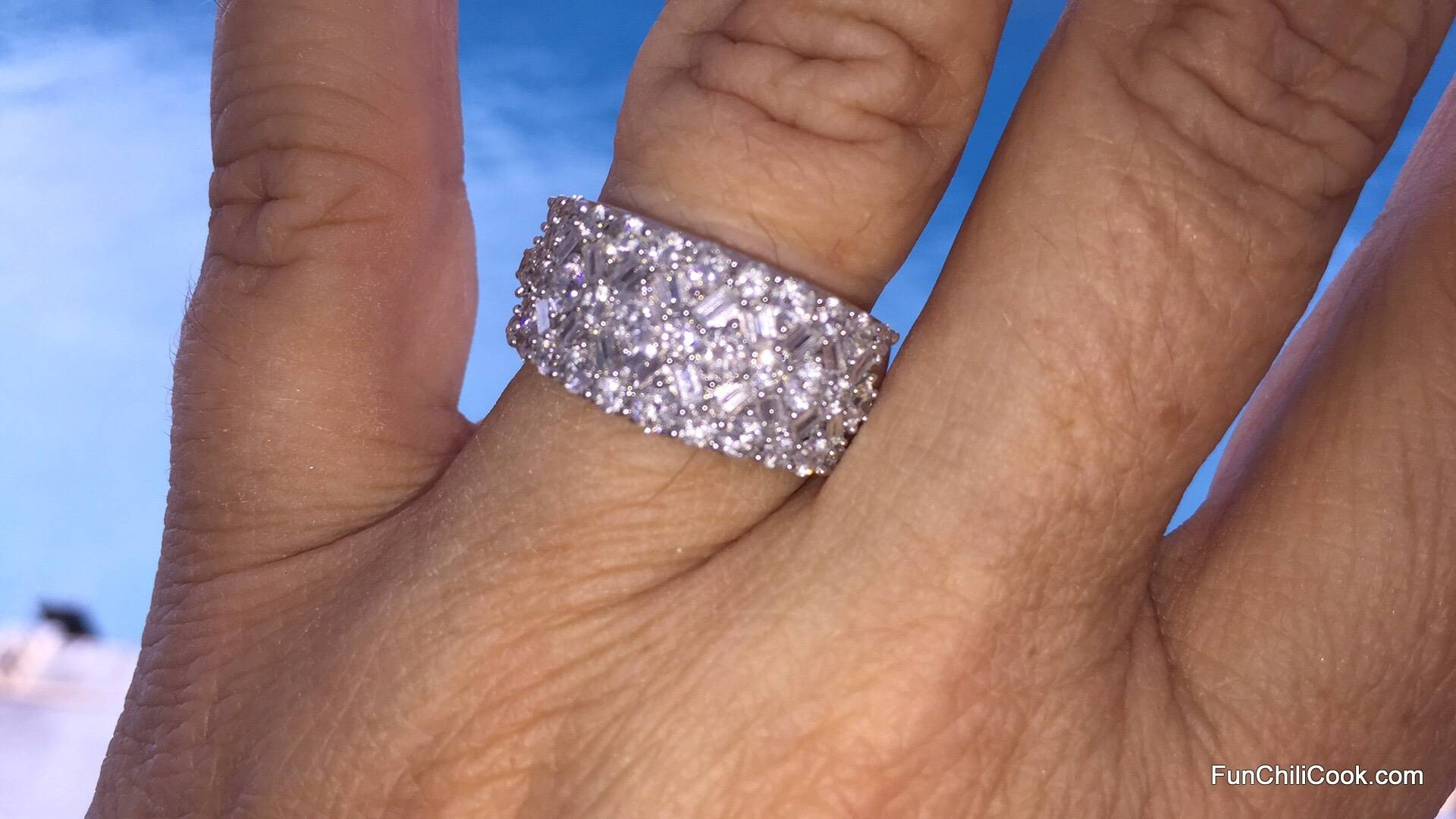 Wedding Rings : How To Stack Anniversary Band 3 Stone Diamond Intended For Most Up To Date Baguette Diamond Anniversary Rings (View 25 of 25)