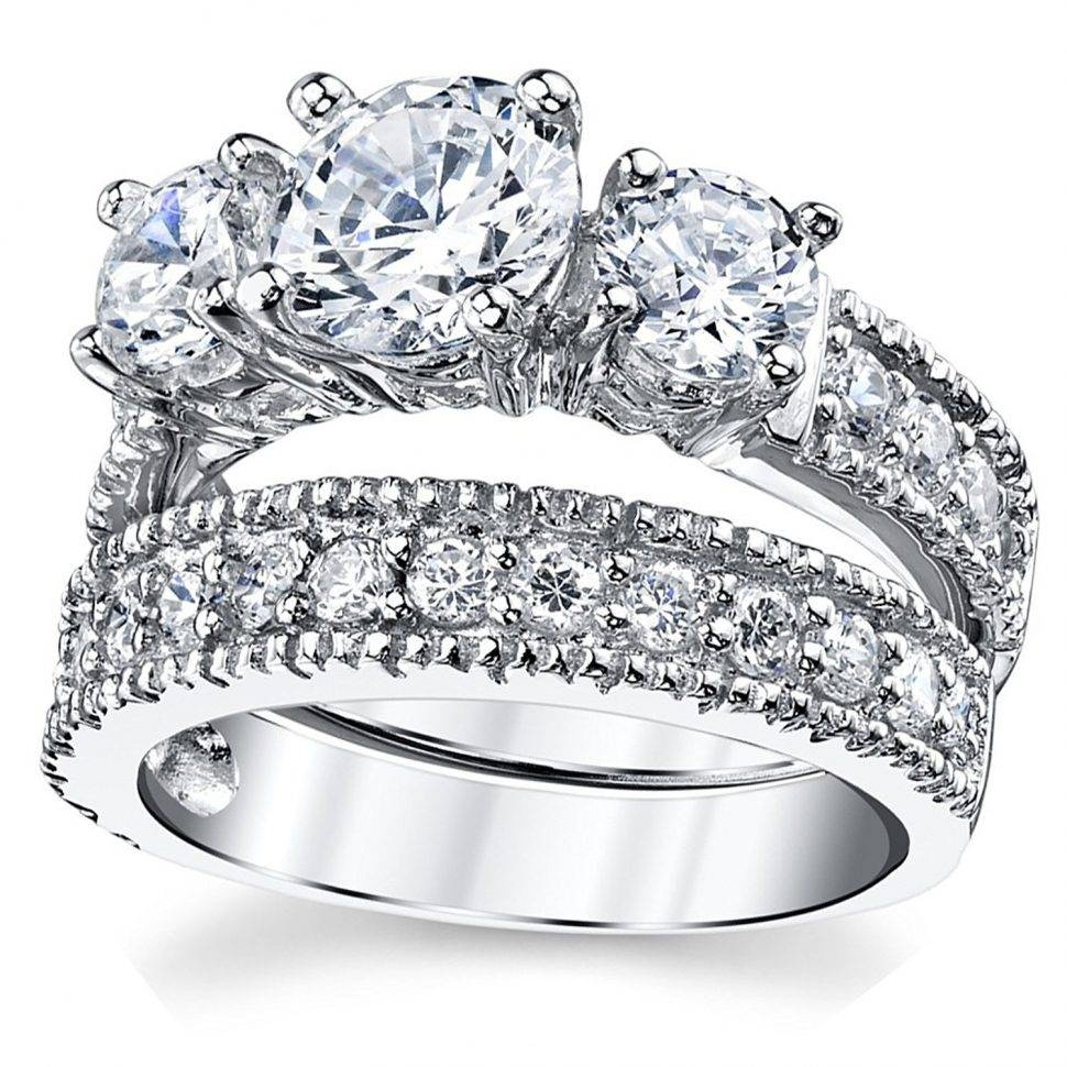 Wedding Rings : Past Present Future Engagement Ring Wedding Band With Most Popular Past Present Future Anniversary Rings (View 17 of 25)