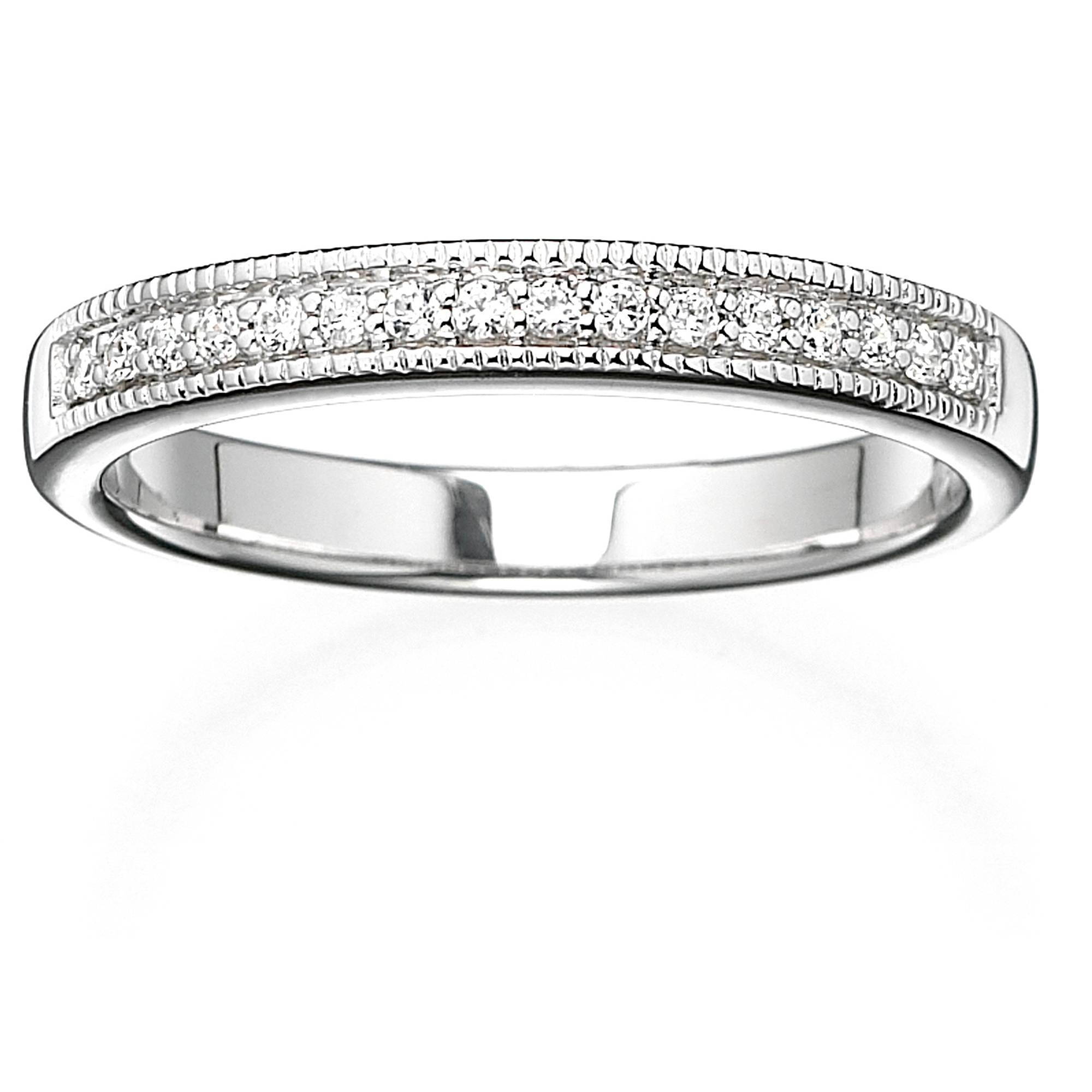 Wedding Rings : Pave Diamond Wedding Band Anniversary Rings Within Current 5 Stone Anniversary Rings (Gallery 20 of 25)