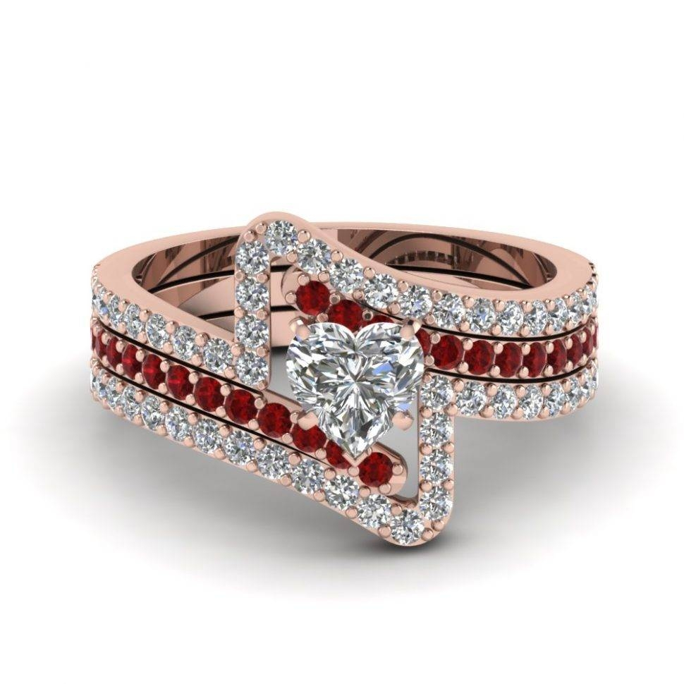 Wedding Rings : Ruby Diamond Engagement Ring Ruby And Diamond Intended For 2017 Ruby And Diamond Anniversary Rings (View 22 of 25)