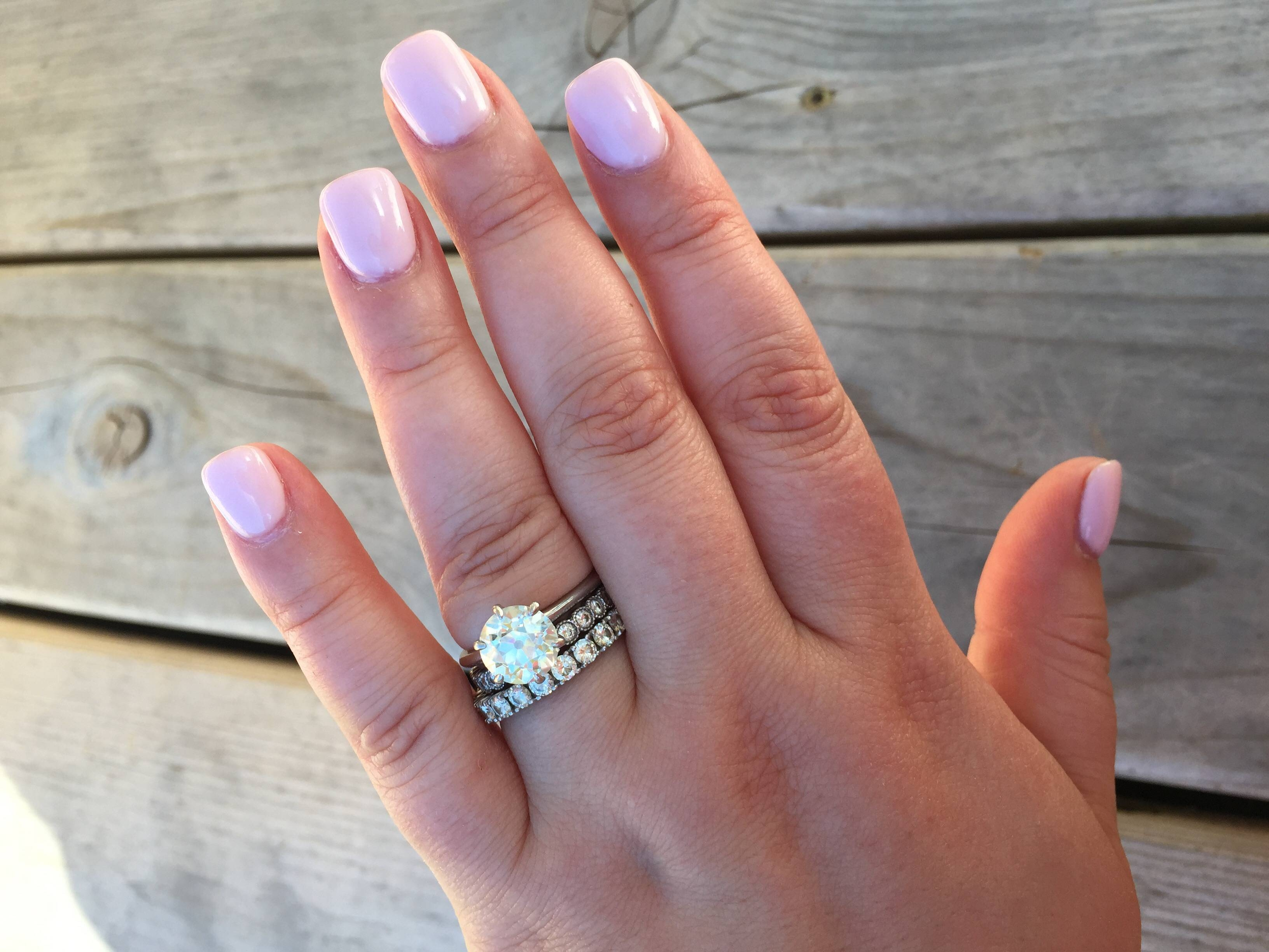What Kind Of Band Did You Pair With Your Solitaire? Show Them Off For Most Current One Year Anniversary Rings (View 24 of 25)