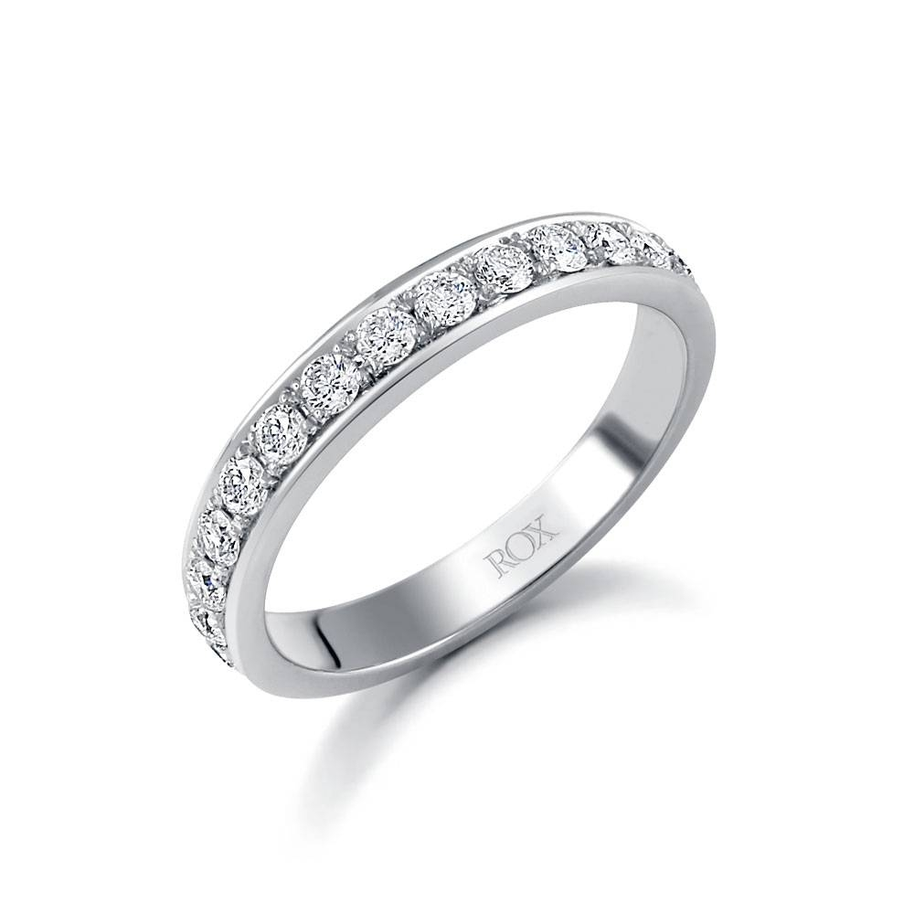 White Gold Brilliant Pave Set Eternity Ring 0.50Ct | Rox Throughout Most Recent Pave Anniversary Rings (Gallery 18 of 25)