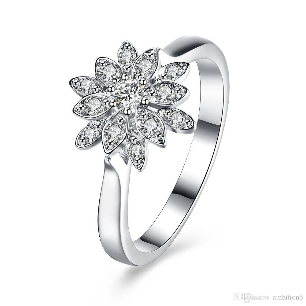 Wholesale High Quality 925 Sterling Silver Ring Diamond Wedding Inside Newest Sterling Silver Anniversary Rings (View 14 of 25)