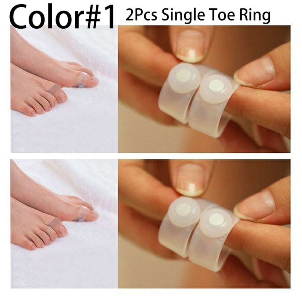 1 Pair Magnetic Silicone Foot Massage Toe Ring Fat Burning For Within Current Magnetic Toe Rings (Gallery 4 of 15)