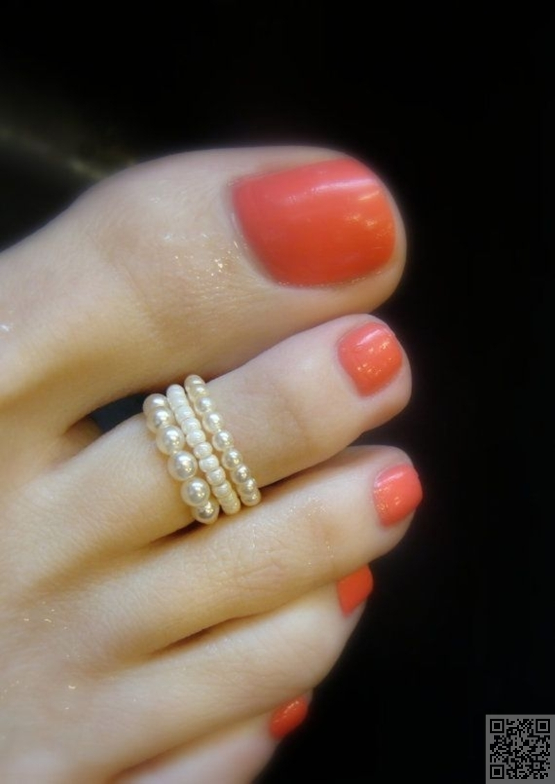 12. #pearl Toe Ring – Show Your Toes Some Love! Wear Some Of Within Most Popular Toe Rings With Elastic Band (Gallery 4 of 15)