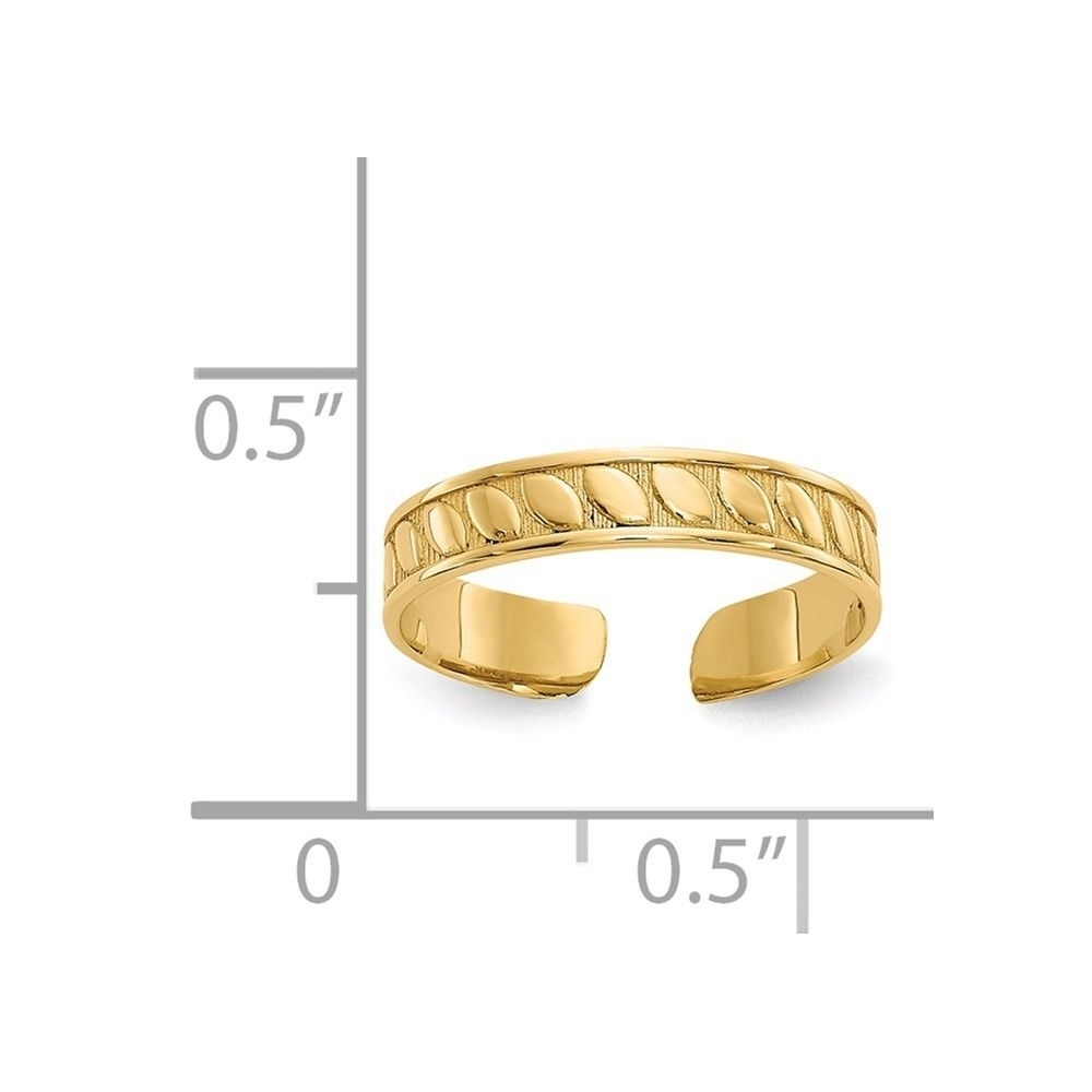 14k Yellow Gold Toe Ring Toe Rings | Ebay In Most Popular 14k Gold Toe Rings (View 18 of 25)