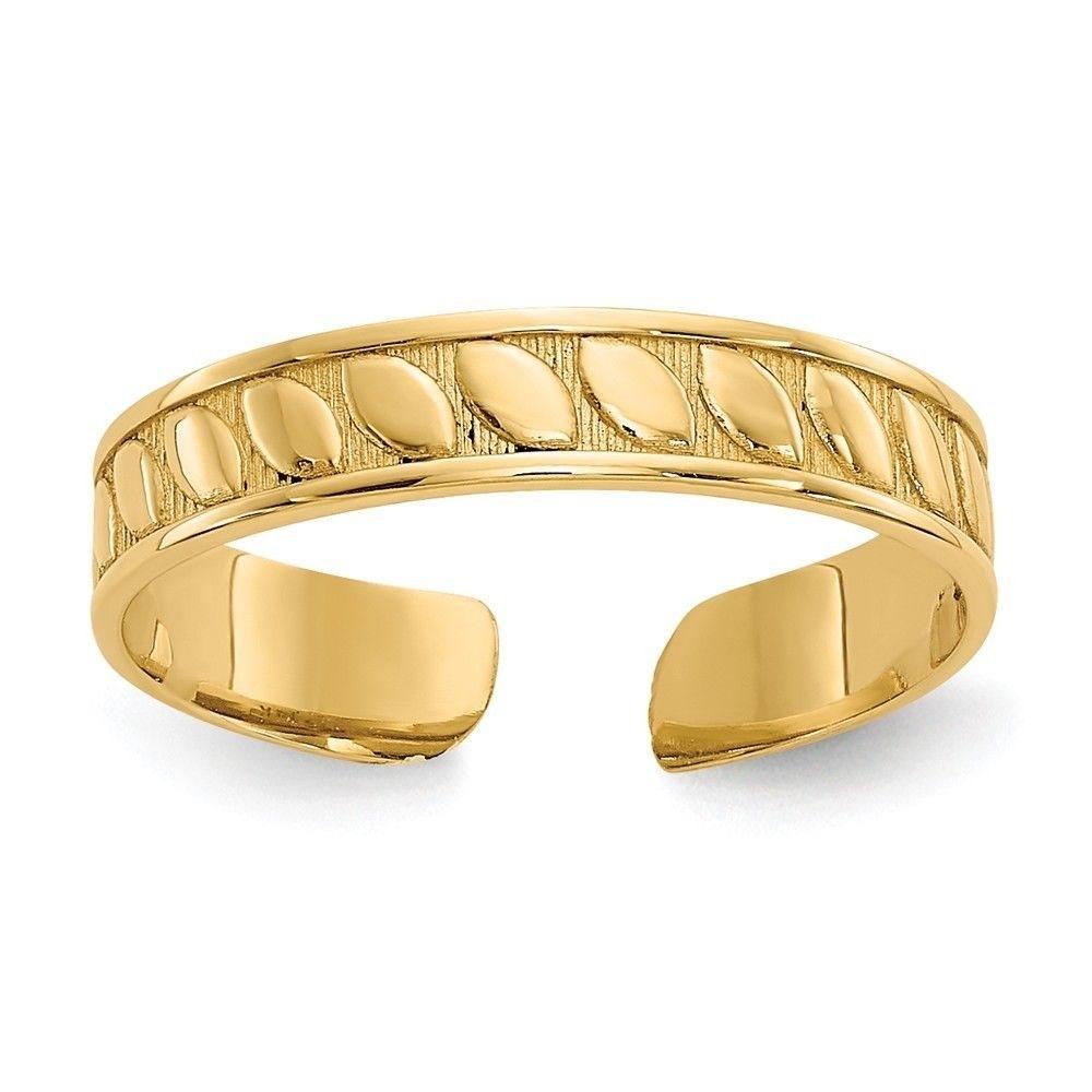 14K Yellow Gold Toe Ring Toe Rings | Ebay Throughout Latest Yellow Gold Toe Rings (Gallery 3 of 15)
