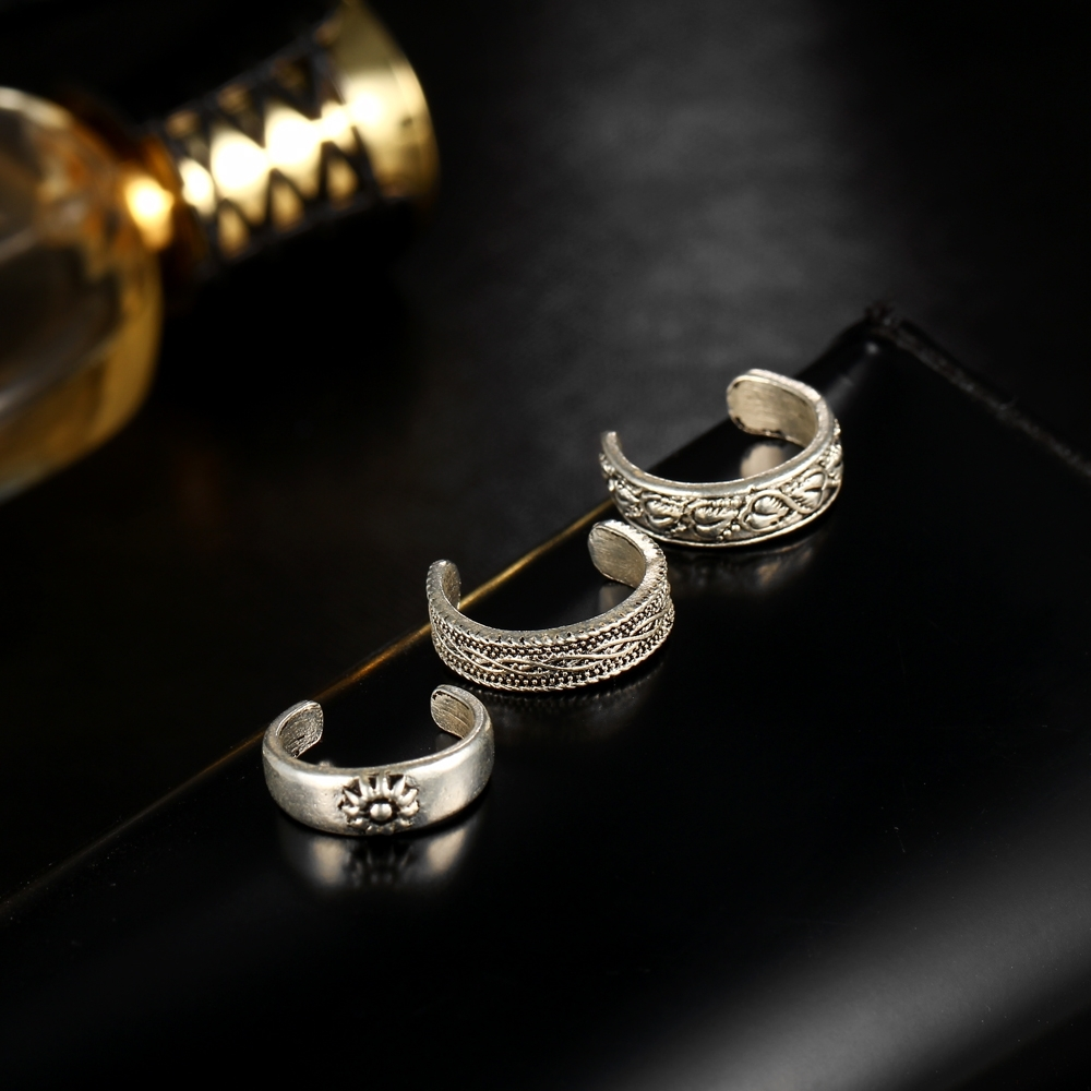 17Km Punk Style Sexy Carved Heart Toe Ring Sets Party Rings For With Regard To Best And Newest Vintage Toe Rings (Gallery 10 of 15)