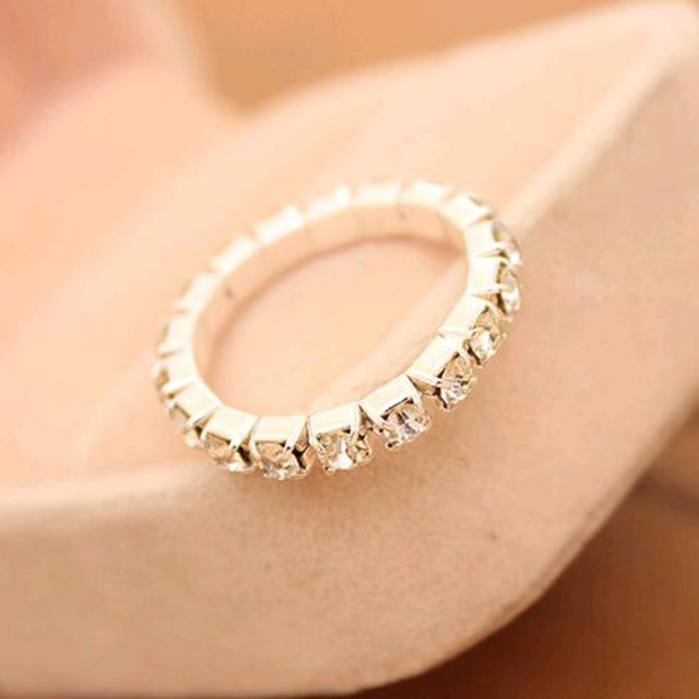 2018 Big Promotions !rhinestone White Fashion Finger Rings Silver Pertaining To Recent Elastic Toe Rings (View 4 of 15)