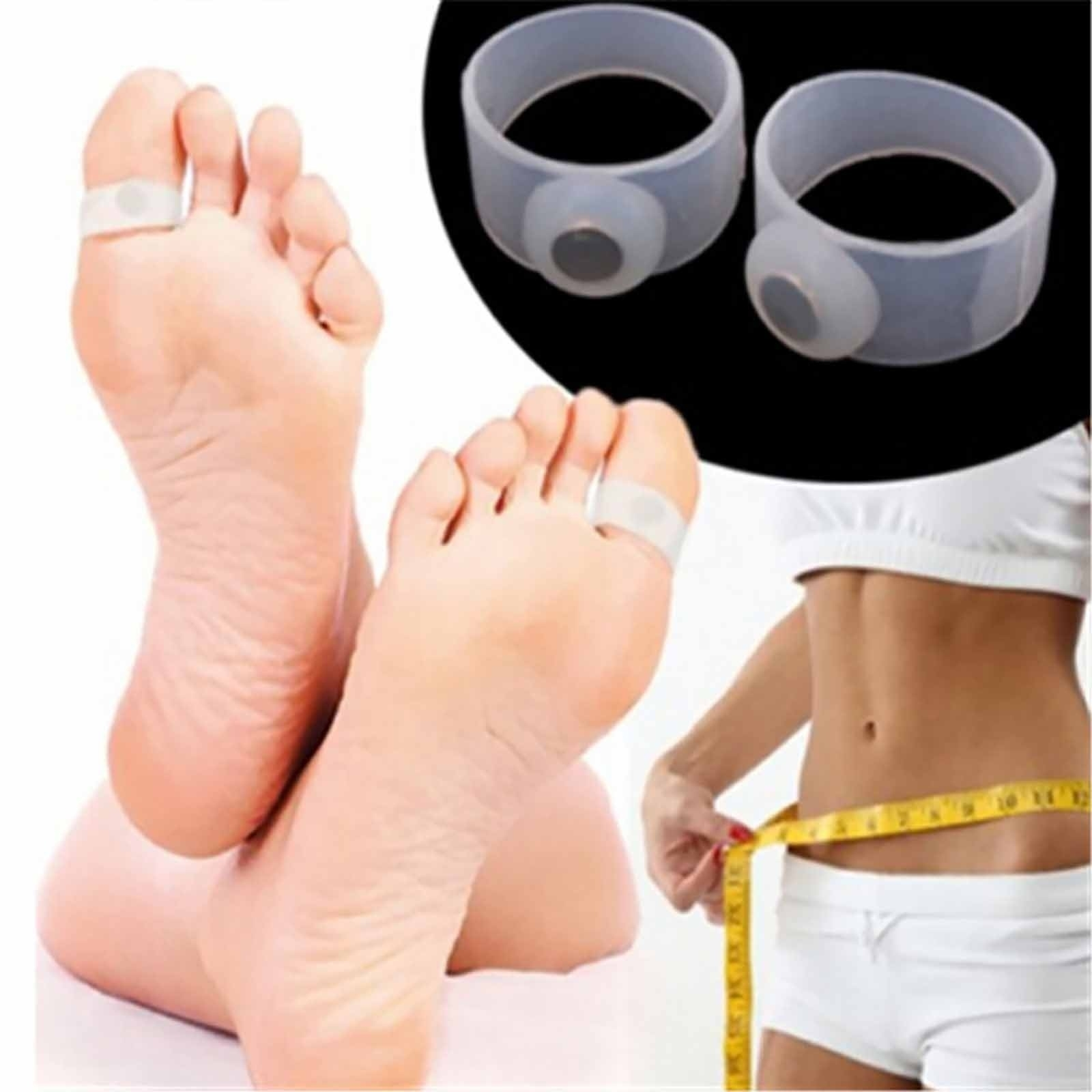 2x Healthy Keep Fit Slimming Body Shape Weight Lose Silicone Toe For Current Slimming Toe Rings (View 14 of 15)